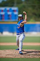 Toronto Blue Jays pitcher Austin Havekost (45) during an Instructional League game against the Philadelphia Phillies on September 27, 2019 at Englebert Complex in Dunedin, Florida.  (Mike Janes/Four Seam Images)