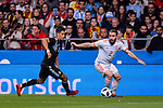 Eduardo Meza of Argentina (L) in action against Daniel Carvajal of Spain (R) during the International Friendly 2018 match between Spain and Argentina at Wanda Metropolitano Stadium on 27 March 2018 in Madrid, Spain. Photo by Diego Souto / Power Sport Images