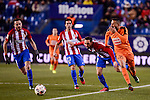 Atletico de Madrid's Juanfran Torres, Saúl Ñígez and Nico Gaitán and SD Eibar's Tiago Manuel Dias during Copa del Rey match between Atletico de Madrid and SD Eibar at Vicente Calderon Stadium in Madrid, Spain. January 19, 2017. (ALTERPHOTOS/BorjaB.Hojas)