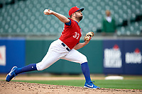 Buffalo Bisons pitcher Dusty Isaacs (37) during an International League game against the Indianapolis Indians on June 20, 2019 at Sahlen Field in Buffalo, New York.  Buffalo defeated Indianapolis 11-8  (Mike Janes/Four Seam Images)
