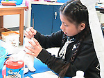 """These fifth-graders at J.P. Henderson ES spent the semester working on an art project about animals breaking out of the zoo. They call themselves """"The Girls Art Squad."""""""