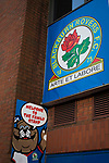 Blackburn Rovers 3 Shrewsbury Town 1, 14/01/2018. Ewood Park, League One. A sign for the Family Stand, pictured before Blackburn Rovers played Shrewsbury Town in a Sky Bet League One fixture at Ewood Park. Both team were in the top three in the division at the start of the game. Blackburn won the match by 3 goals to 1, watched by a crowd of 13,579. Photo by Colin McPherson.