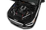 Car Stock 2018 Genesis G90 Ultimate 4 Door Sedan Engine  high angle detail view