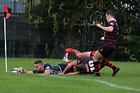Cooperians score their second try during Campion RFC vs Old Cooperians RFC, London 3 Essex Division Rugby Union at Cottons Park on 16th October 2021