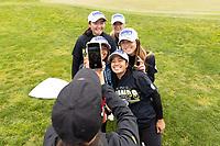 STANFORD, CA - APRIL 25: Brianna Navarrosa, Allisen Corpuz, Amelia Garvey, Alyaa Abdulghany, Malia Nam at Stanford Golf Course on April 25, 2021 in Stanford, California.