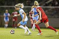 Boyds, MD - Saturday April 29, 2017: Rachel Daly during a regular season National Women's Soccer League (NWSL) match between the Washington Spirit and the Houston Dash at Maureen Hendricks Field, Maryland SoccerPlex. The Dash won 1-0.
