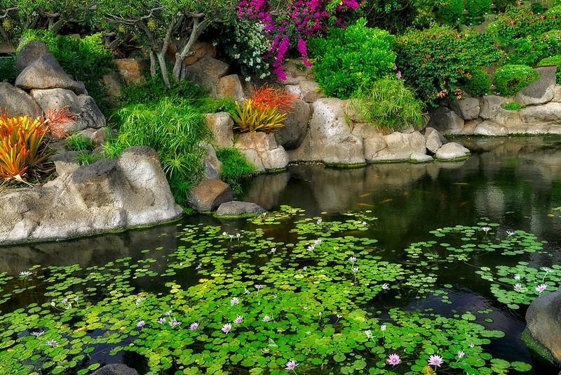 Gardens at Lawai Beach. Poipu, Kauai, Hawaii