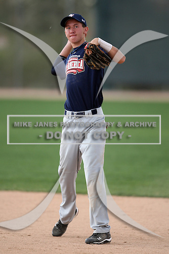 January 17, 2010:  Ryan Koziol (Orland Park, IL) of the Baseball Factory American Team during the 2010 Under Armour Pre-Season All-America Tournament at Kino Sports Complex in Tucson, AZ.  Photo By Mike Janes/Four Seam Images