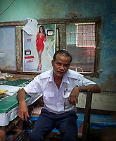 Life at the Yangon Railway Station, Yangon, Myanmar, Burma The Station Master