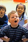 MR / Schenectady, NY.Yates Arts Magnet School / Pre-K.Students aged (4-5) sing in class. (PK- orginal).MR: Ros3.© Ellen B. Senisi