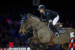 Jane Richard Philips on Dieudonne de Guldenboom competes during the Airbus Trophy at the Longines Masters of Hong Kong on 20 February 2016 at the Asia World Expo in Hong Kong, China. Photo by Juan Manuel Serrano / Power Sport Images