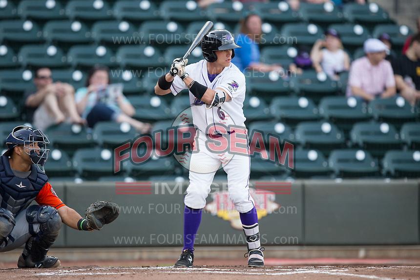 Alex Call (6) of the Winston-Salem Dash at bat against the Buies Creek Astros at BB&T Ballpark on April 15, 2017 in Winston-Salem, North Carolina.  The Astros defeated the Dash 13-6.  (Brian Westerholt/Four Seam Images)
