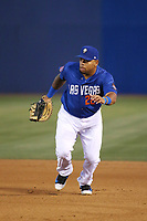 Dominic Smith (22) of the Las Vegas 51s at first base during a game against the Sacramento River Cats at Cashman Field on June 15, 2017 in Las Vegas, Nevada. Las Vegas defeated Sacramento, 12-4. (Larry Goren/Four Seam Images)