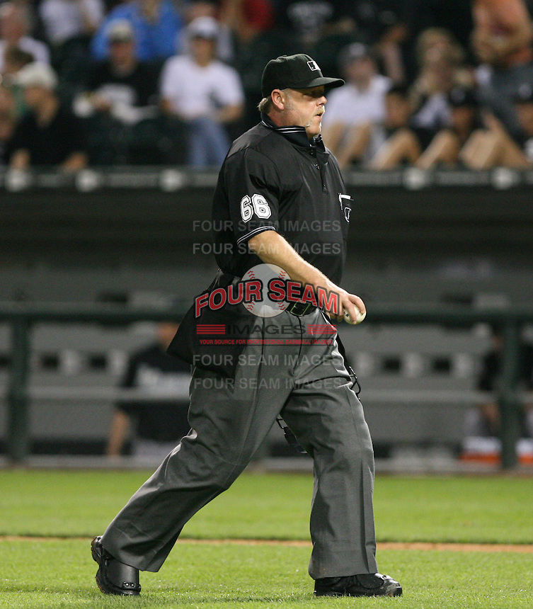 2007:  MLB Umpire Jim Joyce at U.S. Cellular Field during an American League baseball game.  Photo by Mike Janes/Four Seam Images