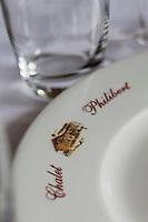 Europe/France/Rhône-Alpes/74/Haute Savoie/Morzine: Restaurant: Le Chalet  Philibert - détail des tables dressées du restaurant