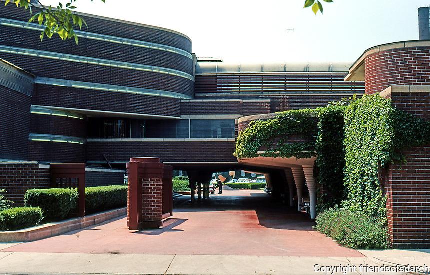 F.L. Wright:Johnson's Wax Headquarters, Racine, Wisc.  Photo '77.
