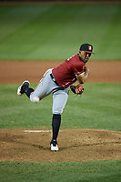 Altoona Curve pitcher Vicente Campos (34) during an Eastern League game against the Erie SeaWolves on June 3, 2019 at UPMC Park in Erie, Pennsylvania.  Altoona defeated Erie 9-8.  (Mike Janes/Four Seam Images)