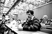 January 18, 1985 - Rodrigue Biron <br /> at the Parti Quebecois (PQ) convention held at Montreal Palais des Congres (convention centre)