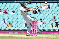 11th January 2021; Sydney Cricket Ground, Sydney, New South Wales, Australia; International Test Cricket, Third Test Day Five, Australia versus India; Cheteshwar Pujara of India pulls the ball away to the boundary