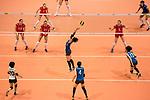 Setter Koyomi Tominaga of Japan (C) pass the ball during the FIVB Volleyball World Grand Prix match between Japan vs Russia on 23 July 2017 in Hong Kong, China. Photo by Marcio Rodrigo Machado / Power Sport Images
