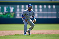 Lexington Legends third baseman Rubendy Jaquez (2) during a South Atlantic League game against the Augusta GreenJackets on April 30, 2019 at SRP Park in Augusta, Georgia.  Augusta defeated Lexington 5-1.  (Mike Janes/Four Seam Images)