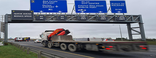 Figure 2: Overhead Signage for M50 Northbound approaching M1/M50 Junction