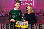 Scifest 2019 National Final Overall Winner, Timothy McGrath pictured with his Mentor & Teacher, Marieke O'Connor.<br /> His project is an R&D study into using a nutrient bio filter to combat Oceanic Dead Zones using Halophyte Plants.