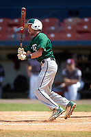 Farmingdale Rams shortstop Brandon Snow (1) at bat during a game against the Union Dutchmen on February 21, 2016 at Chain of Lakes Stadium in Winter Haven, Florida.  Farmingdale defeated Union 17-5.  (Mike Janes/Four Seam Images)
