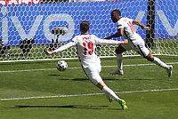 England v Croatia UEFA EURO, EM, Europameisterschaft,Fussball 2020 Raheem Sterling celebrates after opening the scoring for England during the UEFA Euro 2020 Group D match at Wembley Stadium, London PUBLICATIONxNOTxINxUKxCHN Copyright: xPaulxChestertonx FIL-15601-0093 <br /> Photo Paul Chesterton / Imago / Insidefoto <br /> <br /> ITALY ONLY