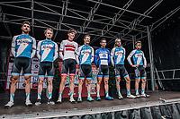 Israël Cycling Academy pre race team presentation<br /> <br /> 2nd Elfstedenronde 2018<br /> 1 day race: Brugge - Brugge 196.3km