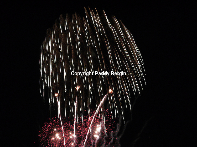 Fireworks competition, celebration, explosive, brilliant colours, stock photos by Paddy Bergin, patterns of light, painting with light