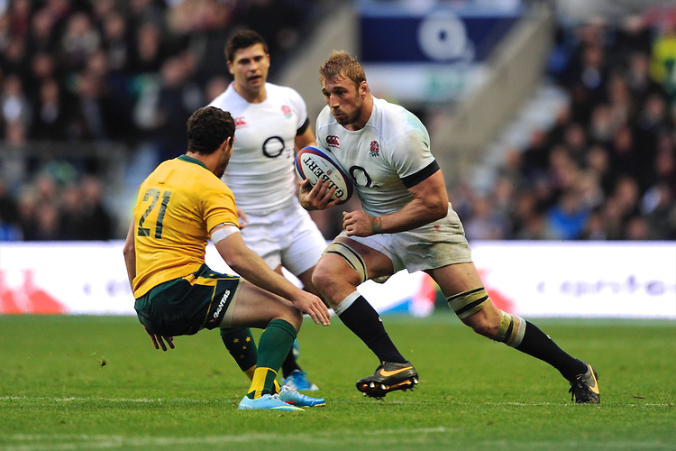 Chris Robshaw of England in action during the QBE Autumn International match for the Cook Cup between England and Australia at Twickenham on Saturday 2nd November 2013 (Photo by Rob Munro)