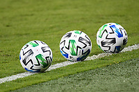 KANSAS CITY, UNITED STATES - AUGUST 25: MLS match day balls  a game between Houston Dynamo and Sporting Kansas City at Children's Mercy Park on August 25, 2020 in Kansas City, Kansas.
