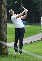 11th July 2021, Silvis, IL, USA; Patton Kizzire hits his second shot from the rough on the #6 fairway during the final round of the John Deere Classic on July 11, 2021, at TPC Deere Run, Silvis, IL.
