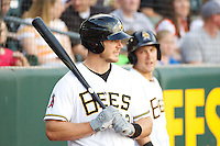 John Hester (22) of the Salt Lake Bees during the game against the Tacoma Rainiers in Pacific Coast League action at Smith's Ballpark on July 9, 2014 in Salt Lake City, Utah.  (Stephen Smith/Four Seam Images)