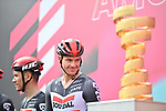 Adam Hansen (AUS) and Lotto-Soudal at sign on before the start of Stage 4 of the 103rd edition of the Giro d'Italia 2020 running 140km from Catania to Villafranca Tirrena, Sicily, Italy. 6th October 2020.  <br /> Picture: LaPresse/Massimo Paolone   Cyclefile<br /> <br /> All photos usage must carry mandatory copyright credit (© Cyclefile   LaPresse/Massimo Paolone)