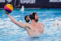 19-02-2021: Waterpolo: Greece v France: Rotterdam<br /> <br /> ROTTERDAM, NETHERLANDS - FEBRUARY 19: David Caumette of France during the Olympic Waterpolo Qualification Tournament 2021 match between Greece and France at Zwemcentrum Rotterdam on February 19, 2021 in Rotterdam, Netherlands (Photo by Marcel ter Bals/Orange Pictures)