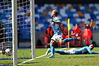 Dries Mertens of Napoli scores a goal<br /> Napoli 29-9-2019 Stadio San Paolo <br /> Football Serie A 2019/2020 <br /> SSC Napoli - Brescia FC<br /> Photo Cesare Purini / Insidefoto
