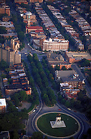Aerial view of Richmond's historic Monument Ave. Richmond Virginia USA.