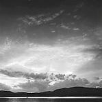 Moosehead Lake, ME. black and white lakescape. 1978