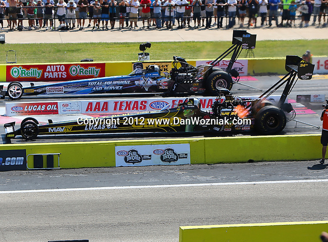 NHRA 2012 - AAA Fall Nationals drag races which were held at the Texas Motorplex dragway in Ennis, Tx.