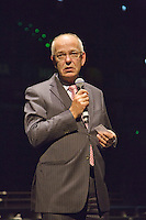 09-02-13, Tennis, Rotterdam, qualification ABNAMROWTT, Mr. Zalm, CEO of the ABNAMRO Bank speaks during dinner