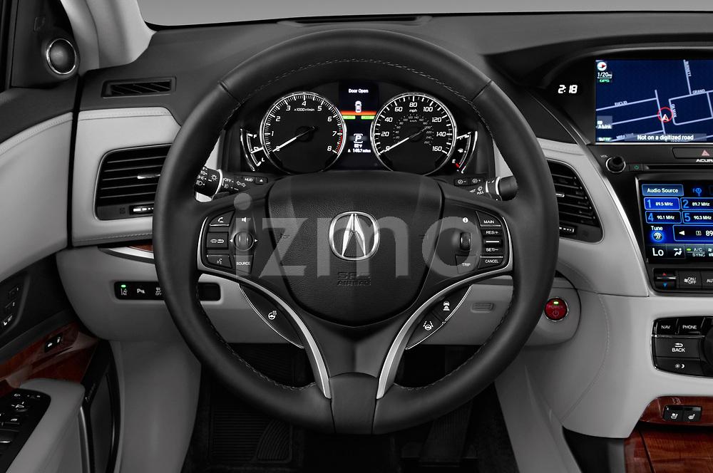 Car pictures of steering wheel view of a 2017 Acura RLX Sport Hybrid 4 Door Sedan