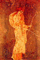Roman Art:  Fresco--Diana the Huntress.  National Museum, Naples.