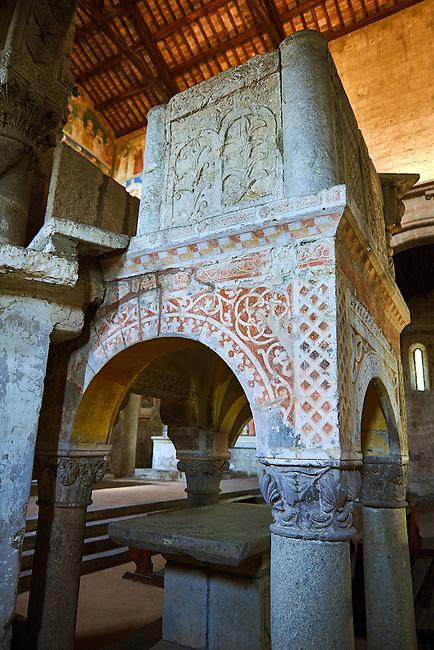 13th century pulpit of the Basilica Church of Santa Maria Maggiore, Tuscania