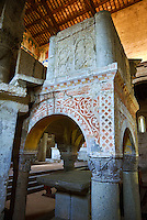 13th century pulpit of the Basilica Church of Santa Maria Maggiore, Tuscania