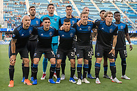 San Jose, CA - Tuesday June 11, 2019: San Jose Earthquakes starting lineup for the US Open Cup match between the San Jose Earthquakes and Sacramento Republic FC at Avaya Stadium.