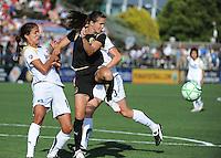 Stephanie Cox, Brandi Chastain, Allison Falk. The Los Angeles Sol defeated FC Gold Pride, 2-0, at Buck Shaw Stadium in Santa Clara, CA on May 24, 2009.