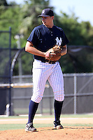 September 28, 2009:  Pitcher Sam Elam of the New York Yankees organization delivers a pitch during an Instructional League game at Yankees Training Complex in Tampa, FL.  Elam was selected by New York Yankees in 8th Round (255th overall) of 2009 MLB amateur entry draft.  Photo By Mark LoMoglio/Four Seam Images