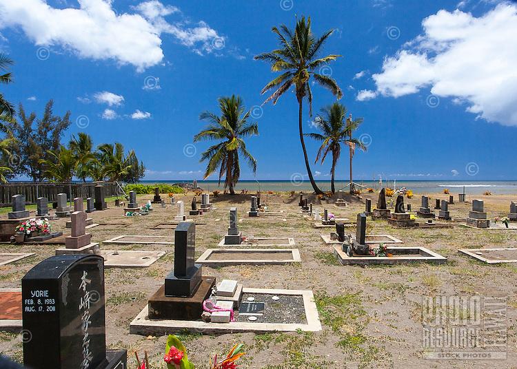 Japanese cemetery near the beach in Kekaha, Kaua'i